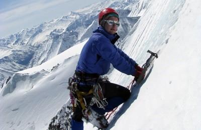 Альпинист на Алтае