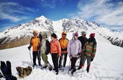 Группа в горах Сванетии