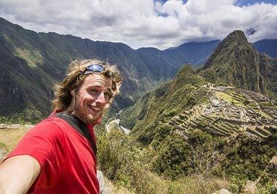 Селфи на фоне Мачу-Пикчу