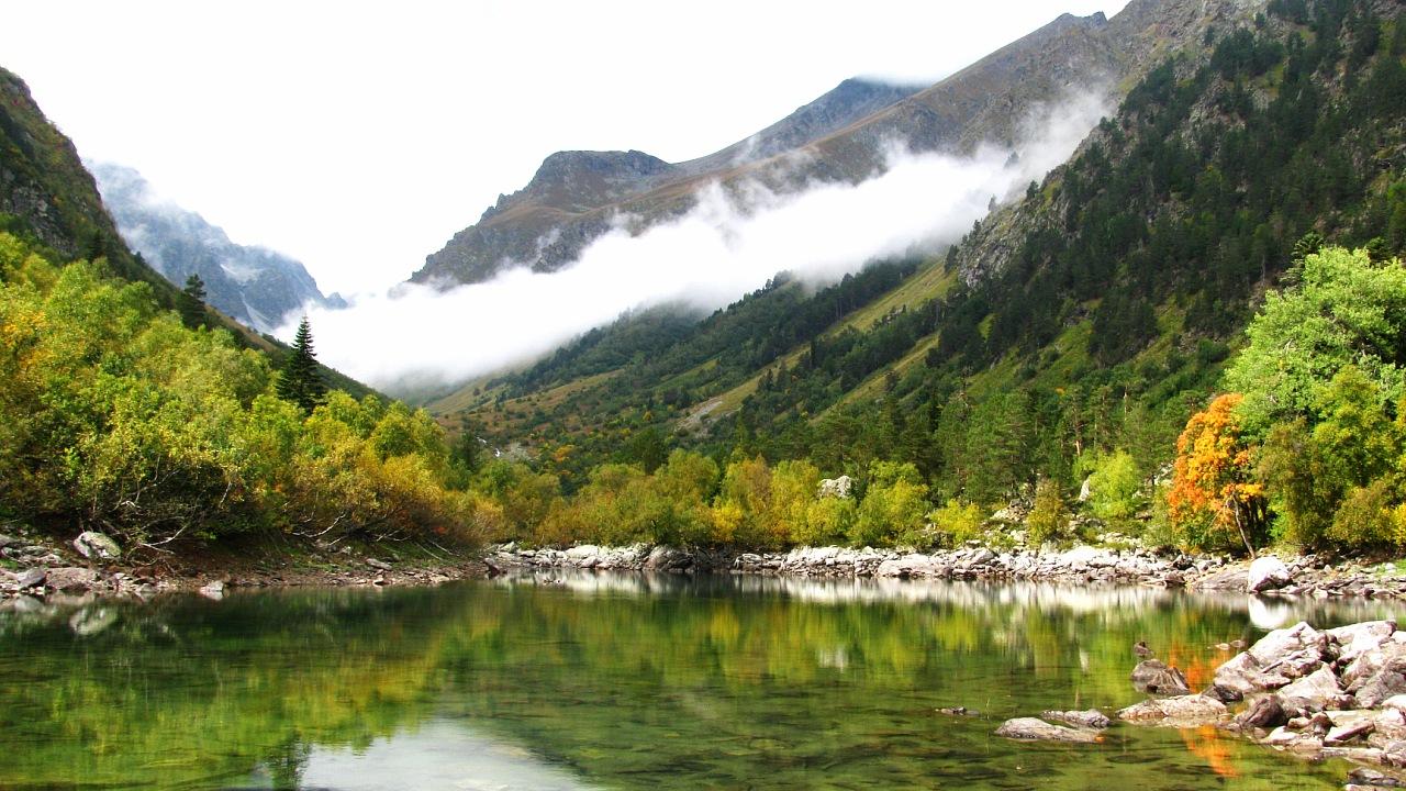 бадукские озера, кавказ осенью