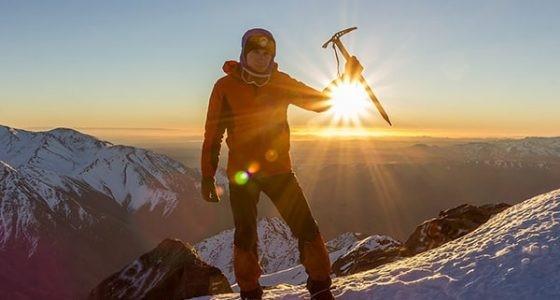Альпинист на горе Тубкаль