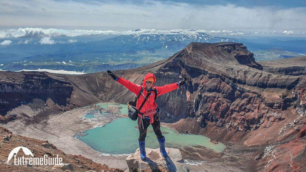 термальное озера камчатка, поход по вулканам камчатки