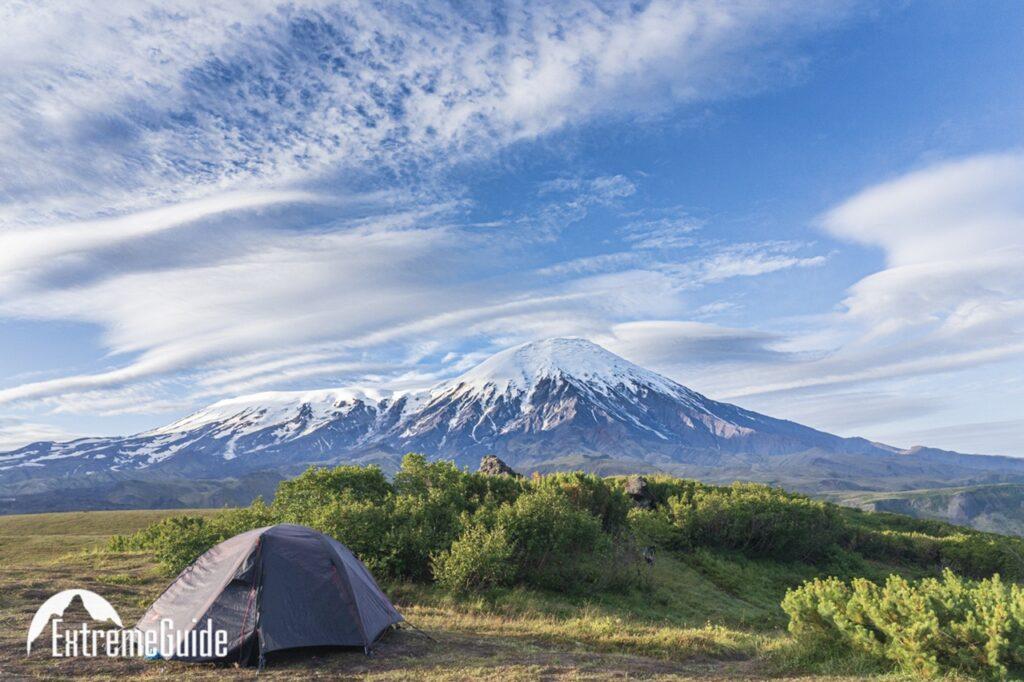 стоянка под вулканом толбачик
