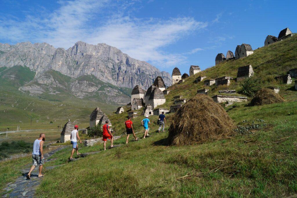 селение даргавс казбек с севера